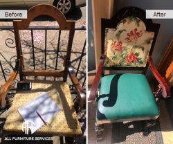 chair complete redo refurbish upholster seat back change