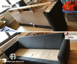couch disassembly sofa disassembling upholstered furniture take apart cut remove arm back
