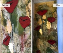 cracked glass piece of art repair restoration hide cracks finish seal reinfroce touch up paint