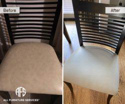 cracking peeling vinyl leather change on chair seat upholster