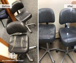 medical exam chair office task chair repair upholstery material color change commercial