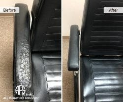 office chair cracked arm vinyl leather replacement repair change