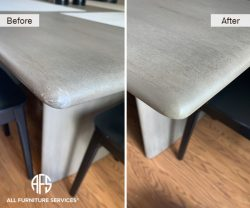 stone concrete marble granite table top corner repair stain color match touch-up