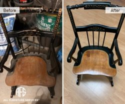 Chair Furniture Painting Hand Gilding Gold Leaf Black Lacquer Restoration Refinishing Chair Details Antique