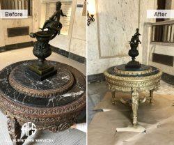 Antique Art Statue Table Brass Bronze Repair Restoration Finish