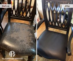 Arm chair seat replacing change upholstery peeling vinyl