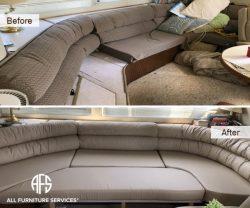 Boat Lounge furniture upholstery change ship plane cushions