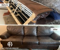 Leather Couch Disassembly Furniture Take apart sofa cut remove back arm seat moving inside fit
