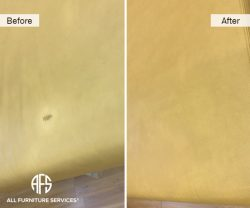 Leather furniture Vinyl repair color match dye