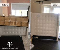 Tufted Headboard Disassembly furniture take a part break down cut no fit solution dismantling moving