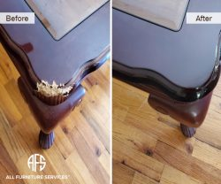 animal-damaged-wooden-table-corner-dog-pet-chewed-bitten-chuck-shape-recreate-fill-in-color-match-finish