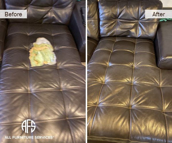 Services All Furniture, Bonded Leather Sofa Repair