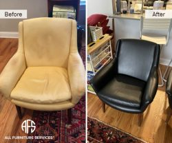 leather chair replacing upholstery reupholstery