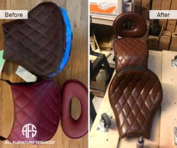 motorcycle car auto boat airplane seat restoration color change leather vinyl dyeing