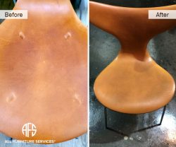 Leather dent damage pressure mark stain padding waxed aniline repair scratched restore shirnk expand fix furniture NYC