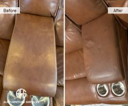 couch sofa middle console leather vinyl dyeing color repair enhance improve fix Florida