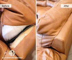 seam repair furniture tear sttiching back came apart restoration seaming back together