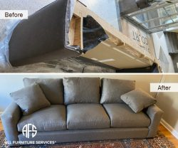 Couch disassembly Sofa bed take apart sleeper disassembling assembling cut to fit inside narrow stairway elevator basement attic furniture bed don't fit