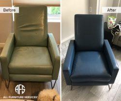 Furniture Chair Leather Color change add padding foam restore fix refurbish polish dye paint