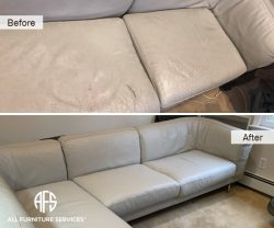 furniture chair sofa seat cushions repair replace padding reupholstery change leather vinyl fabric fix cracked torn worn discolored material