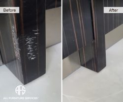 lacquer poly super high gloss animal dog scratches touch up fill in blend seal finish refinish restore furniture