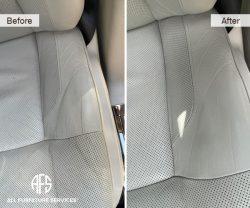 rolls royce bentley ferrari car auto leather repair color match dye stain discoloration crack repair auto plane