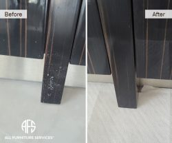 wood lacquer legs base table credezna buffet repair touch up fill in color match polish scratch removal