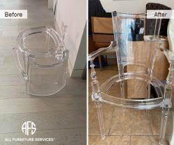 Acrylic Plexiglass Lucite Cracked Broken Chair Repair