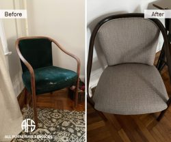 Antique Chair Upholstery Wood Arm Back refinishing