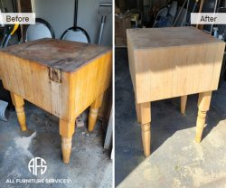 Hardwood Table Repair Sand Strip Finish in-home service furniture