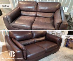 Leather Loveseat Furniture Repair Restoration color match dye fix change renew
