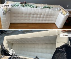No fit Tufted sofa loveseat sectional dismantling take apart break down disassemble to fit into elevator door