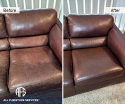 Sectional Sofa color change dyeing restoration complete face lift furniture