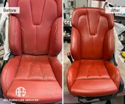 Sport Car used seat repair restoration dyeing improving NYC