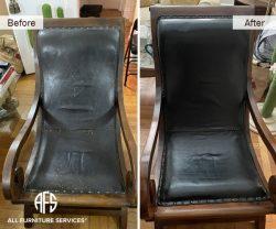 antique chair restoration furniture repair padding seam stitch wrinkles sagging padding