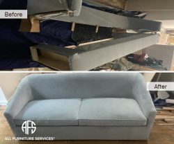 custom round sofa bed disassembly assembly take apart break down to fit