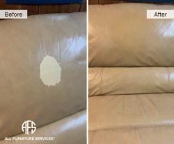 leather furniture back discoloration peeling stain repair color restore fix dye paint