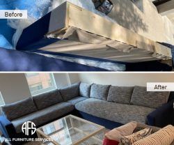 sectional sofa disassembling couch take apart break down broken apart to fit stairway basement elevator