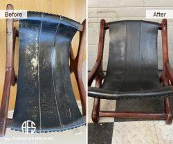 stressless stool chair seat repair upholstery dyeing restoring furniture